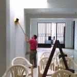 Missionário Nerísio finalizando o templo