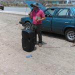 Missionário Nerísio ministrando nas ruas da capital do Peru
