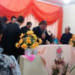 Momento de oração dirigida pelo Dc. Cláudio na vigília