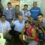 Alguns dos participantes dos cultos no Presídio Municipal de Monte Caseros