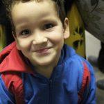 O pequeno Samuel, de quatro anos