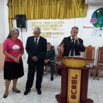 Missionário Marcelo  Machado e sua esposa despediram-se da igreja de Manaus