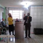 Pr. Hubert pregando na cidade de Capão Bonito do Sul