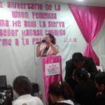 Missionária Ada C. Fleitas ministrando a palavra de Deus