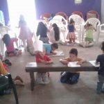 As crianças aprendem a Palavra de Deus em Formosa