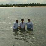 Momento do batismo