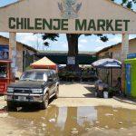 Mercado de produtos alimentícios em Lusaka