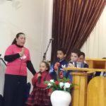 Participação das crianças no culto de Grândola