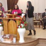 Trio formado pelas missionárias Silvana, Beatriz e Ana