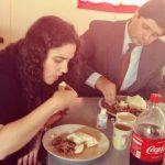 Pr. Humberto e irmã Ana comemoraram seus 28 anos de matrimônio com uma refeição típica de Tete: n'shima ao molho de cabrito