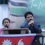 Missionário Ramesh e sua esposa, irmã Rabina, do Nepal, louvaram a Deus