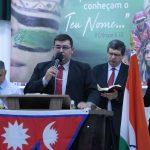 Missionário Roberto Martins, do Uruguai, pregou a Palavra na abertura do evento