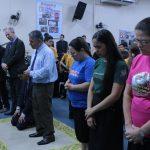Os promotores e secretários de missões das congregações da Área receberam uma oração