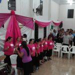 Coral da União Feminina local louvou ao Senhor