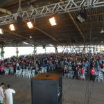 O pavilhão do Parque de Exposições Assis Brasil ficou lotado