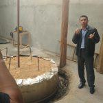 Estrutura de Biogás Natural gerado pelo esterco das vacas
