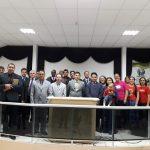 Equipe Heróis da Fé, com obreiros e parte da igreja local