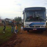 Ônibus locado que faz o transporte dos irmãos