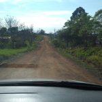 Estrada para chegar nas congregações da reserva indígena