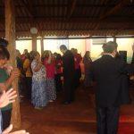 Oração final do culto na Cong. Setor Dez