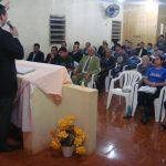 Pb. Ronaldo Restelli ministrando a Palavra de Deus