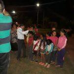 Muitas crianças participaram do culto