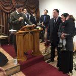 Pr. Humberto realizou a posse do missionário Sandro Augusto Machado na Área Sul de Portugal