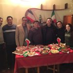 Primeira refeição em solo italiano. Típicos petiscos da culinária mediterrânea